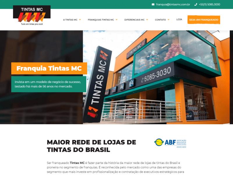 Website Tintas MC
