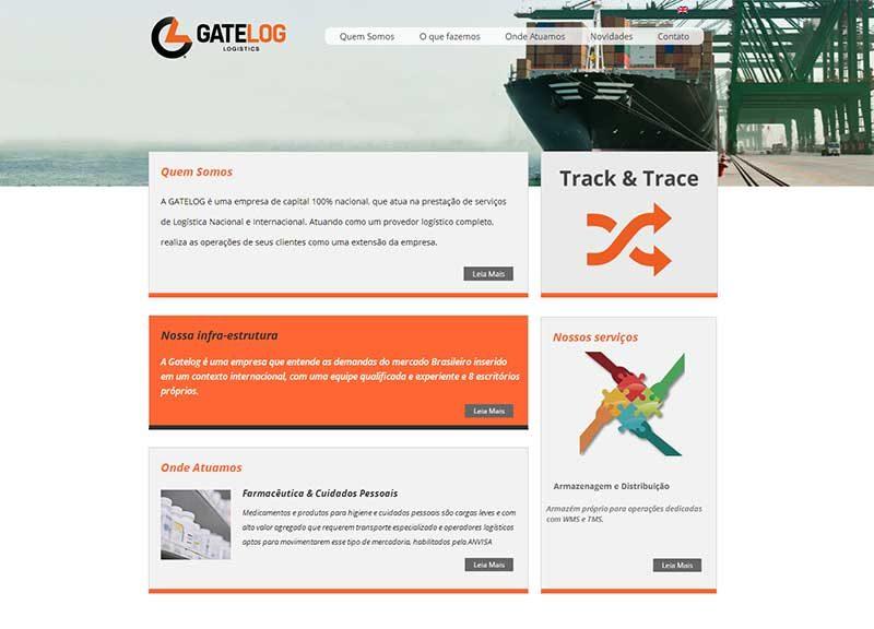 Website – Gatelog – empresa de logística