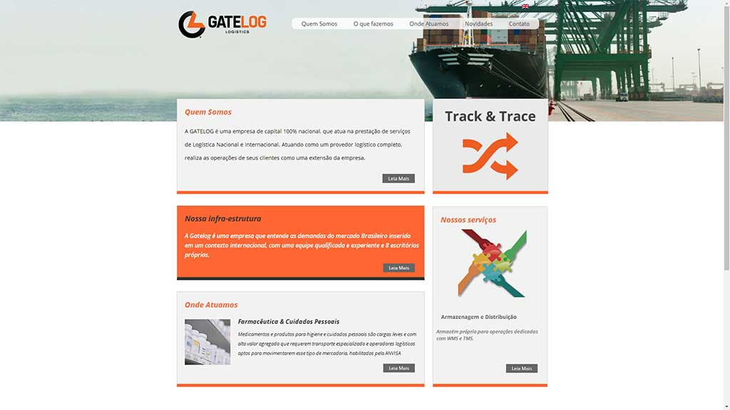 Desenvolvimento de site de empresa de logística