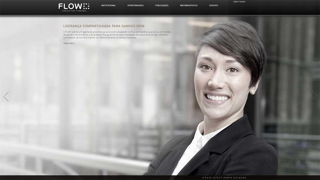 Desenvolvimento de sites de empresa de recrutamento e seleção Flow Headhunter