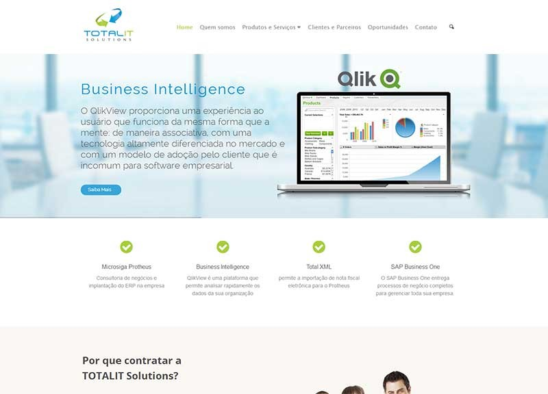 Website TotalIT – Consultoria em ERP