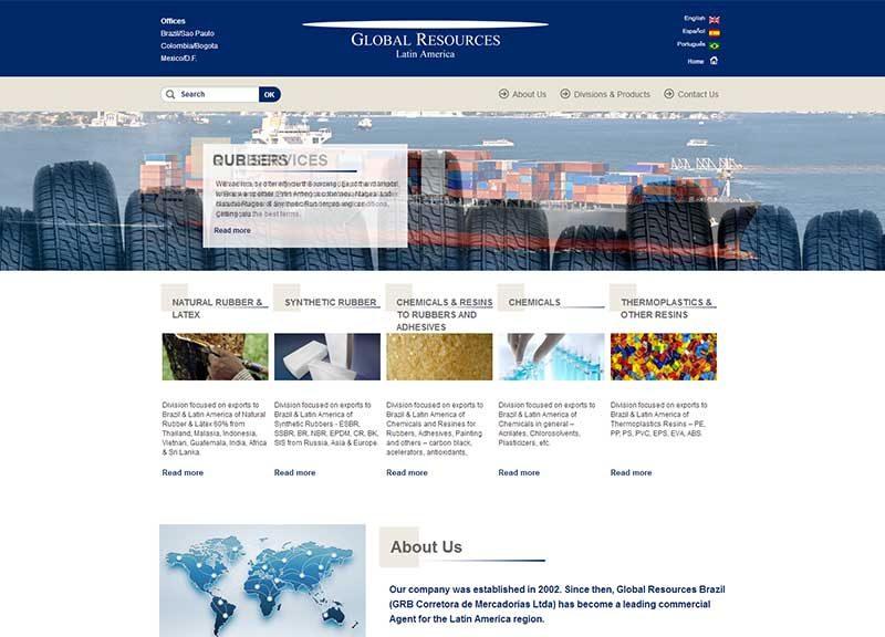 Website empresa de trade