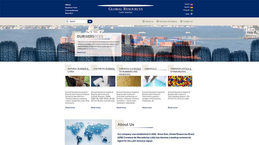 desenvolvimento site wordpress de trade company