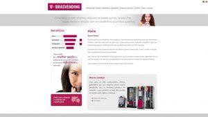 Website de empresa de vending machines
