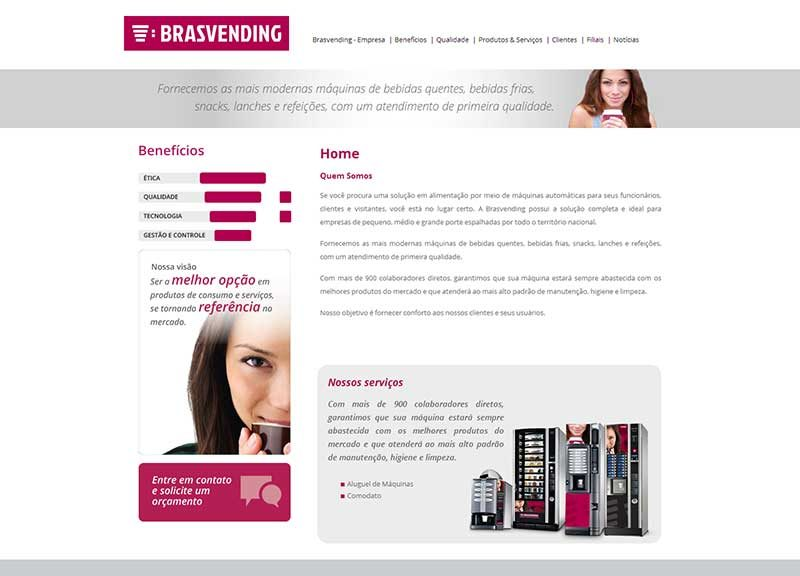 Website de empresa de vending machines